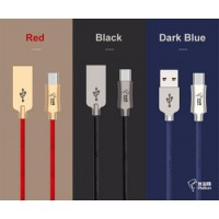 Data Line Zinc Alloy 2.4A High Speed Charging and data sync Type C USB Cable