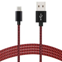 Best selling 1m copper nylon braided micro usb cable for Android telephone computer braided usb data cable